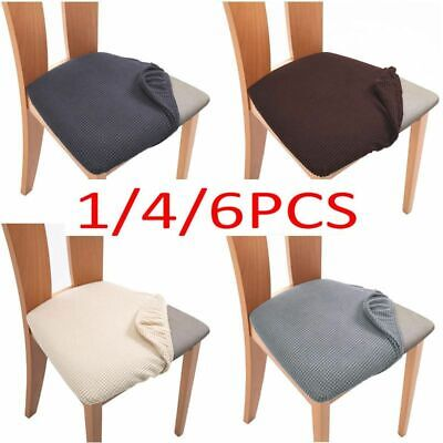 AU20.58 • Buy Stretch Dining Chair Seat Covers Removable Seat Cushion Slipcovers Protector