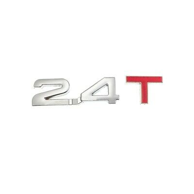 £4.95 • Buy Silver Red 2.4T Metal Badge Emblem Decal Sticker Car Styling Decorative Turbo UK