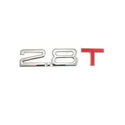 £4.95 • Buy Silver Red 2.8T Metal Badge Emblem Decal Sticker Car Styling Decorative Turbo UK