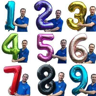 £3.49 • Buy 40 Inch Number Balloons XXL Helium Or Air Birthday Party Wedding 1234567890 UK