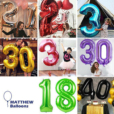 £2.99 • Buy Number Balloons Birthday 40 Inch LARGE XXL Helium Or Air Party Age 1234567890 UK