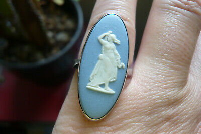 £19 • Buy Vintage Wedgwood Cameo And London Assayed Silver Ring Date 1978