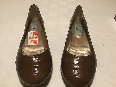 £10 • Buy Ladies Ballerina Style Pump Shoe In Tan Leather Size 3/36 New Boxed