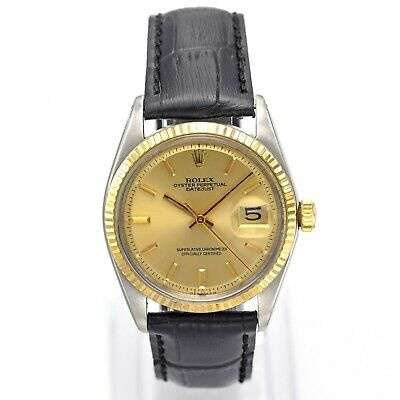 $ CDN3093.53 • Buy Vintage Rolex Datejust Two Tone Automatic Men's Watch Ref 1601 Box Papers Tags