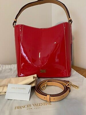 $ CDN217.15 • Buy Frances Valentine (Kate Spade) Large June Soft Patent Red Leather Tote Purse NWT