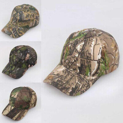 £4.99 • Buy Men Women Camouflage Cap Camo Baseball Hunting Fishing Army Sun Hat Adjustable