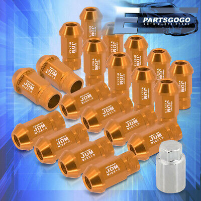 $24.99 • Buy Universal M12X1.5MM Forged Aluminum Gold Wheel Rim Lug Nuts 20 Pieces W/ Adapter