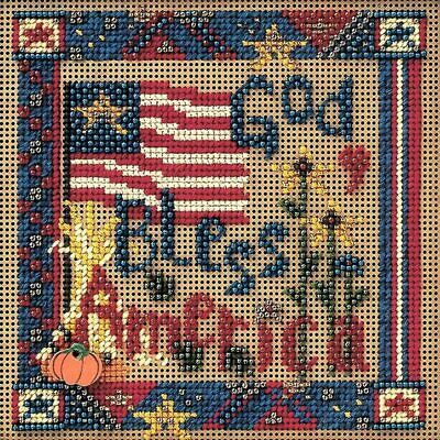 $12.99 • Buy Mill Hill 2002 Buttons & Beads Autumn Series  ~God Bless America ~ MHCB185