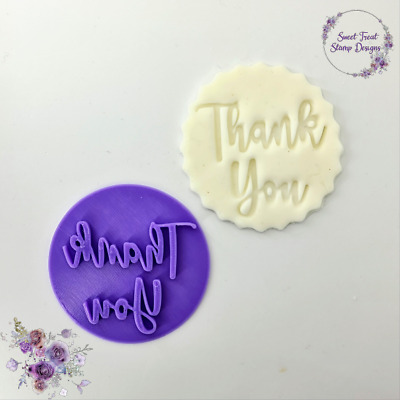 £4.89 • Buy Thank You Embosser Stamp For Fondant Cupcake Cake Cookie Cookies