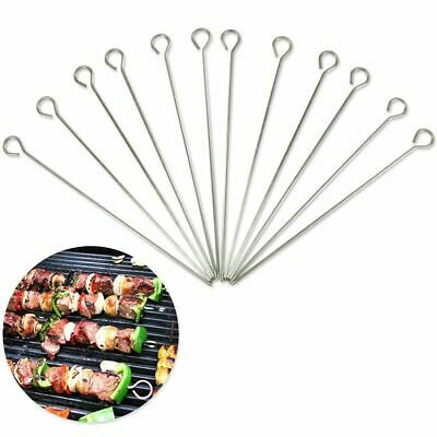 £2.89 • Buy 12x Metal BBQ Skewers Barbecue BBQ Meat Vegetable Kebab Shish Kitchen Grill Cook