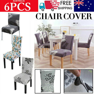 AU24.99 • Buy Stretch Chair Cover Seat Covers Milk Silk Fabric Washable Banquet Wedding Party
