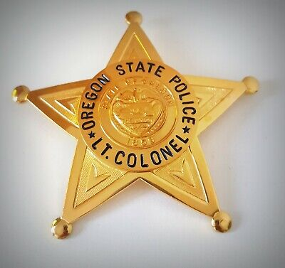 £18.99 • Buy Obsolate Historical Police Usa Badge ... LT.Colonel Oregon State Police 1859
