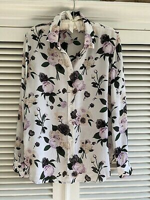 $ CDN153.34 • Buy Equipment Women Silk Floral Shirt White With Pink And Grey Flowers Size M