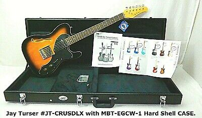 $ CDN278.42 • Buy NEW Hollow Body Tele Style, JAY TURSER Electric Guitar & CASE, Music Store NOS