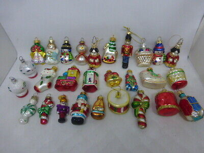 $ CDN18.14 • Buy Huge Lot Of 28 Vintage Modern Figural Glass Feather Tree Christmas Ornaments
