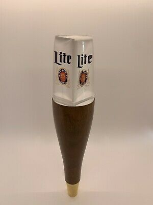 $45 • Buy Miller Light Wood And Acrylic Beer Tap Handle