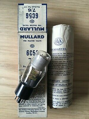 AU18.12 • Buy 1x Mullard 6C5G New Old Stock Valve Amplitrex Tested Tube (early Version Of 6J5)