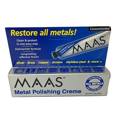 $29.77 • Buy MAAS Metal Fine Polishing Concentrated Creme 2 Oz Tube All Metals - Made In USA