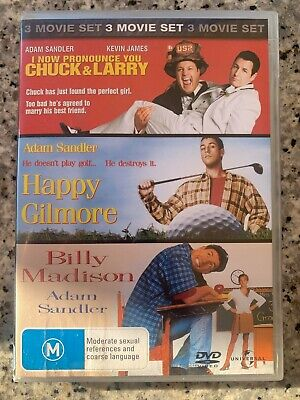 AU12.50 • Buy Adam Sandler Collection - DVD - Billy Madison Happy Gilmore Chuck & Larry Comedy