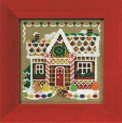 $12.99 • Buy Mill Hill Buttons & Beads Winter Series Cross Stitch Kit ~ Gingerbread House ~