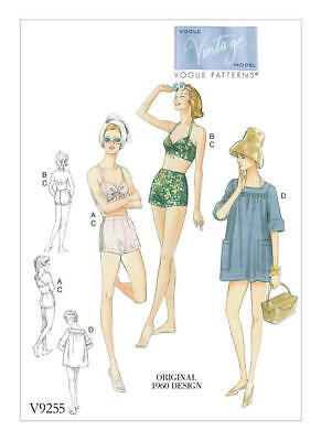 £2.50 • Buy Vogue V9255 Pattern For Ladies Beach Outfit