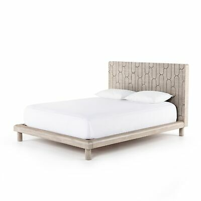$5149 • Buy 88  D Claudio Modern King Bed Oval Hand Carved Headboard Design Light Mahogany