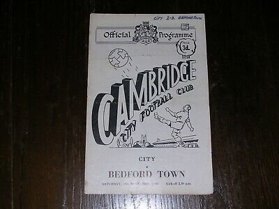 £6.99 • Buy 1958/59  CAMBRIDGE CITY V BEDFORD TOWN  SOUTHERN LEAGUE  29/11/1958