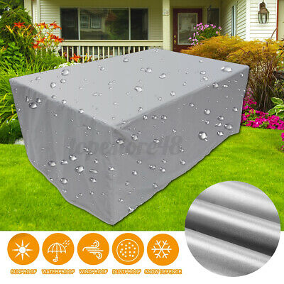 AU24.64 • Buy 8ft Polyester Waterproof Fabric Outdoor Pool Snooker Billiard Table Cover Silver