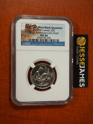 $ CDN6.65 • Buy 2019 W 25c Lowell Quarter Ngc Ms66 Great American Coin Hunt Label