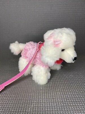 """£3 • Buy KEEL TOYS Simply Soft Collection Dog With Pink Lead Cute 7"""""""