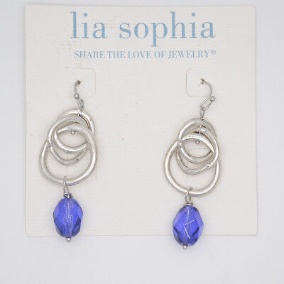 $ CDN8.46 • Buy Lia Sophia Jewelry Silver Plated Round Circle Drop Dangle Chandelier Earrings