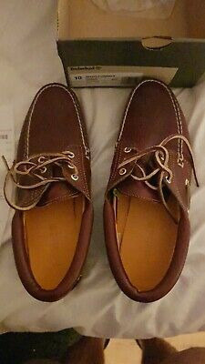 £100 • Buy Timberland Moccasin Chunky Deck Boat Classic 3 Eye 80s 9.5
