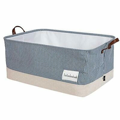 £26.87 • Buy 22-Inches X-Large Storage Basket With Lid, Drawstring Canvas Underbed