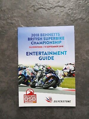 £0.99 • Buy  Bsb     Silverstone.....british Superbikes.....entertainment Guide 2018. New..