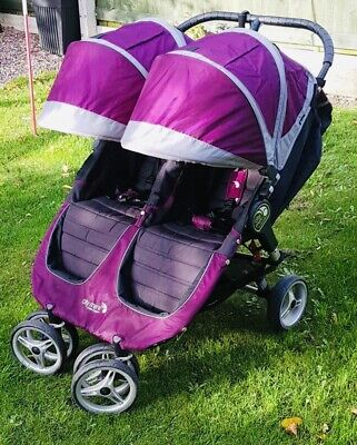 £150 • Buy Baby Jogger City Mini Double Pram With Carrycot, Adaptors, Raincover & Footmuff!