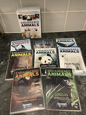 £2 • Buy NEW Boxed Set ENDANGERED ANIMALS 8 DVDS Animal Planet