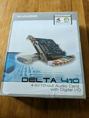 $95 • Buy M-Audio Delta 410 Sound Card Ne  4-in / 10 Out Audio Card New Factory Sealed