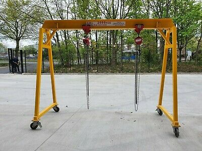 £1100 • Buy Lifting Gantry Movable Portable Mobile Steel A Frame 2 Ton SWL