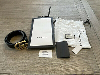 AU547.29 • Buy Women's Gucci GG Buckle Black Belt Gucci Size 34 & 85 Cm