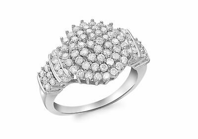 AU2518.69 • Buy 9ct White Gold Diamond Cluster Ring