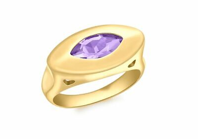 AU382.44 • Buy 9ct Yellow Gold Marquise Amethyst Ring