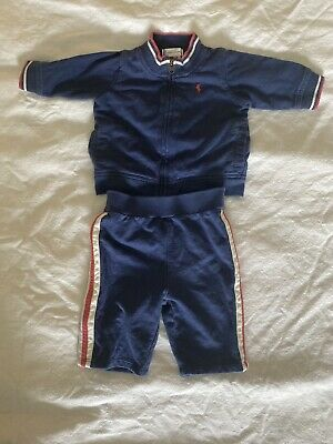 £14.20 • Buy Ralph Lauren 2 Piece Sweatsuit Size 3M Great Condition!