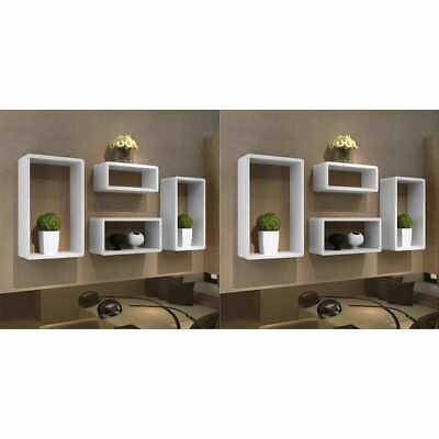 AU234.99 • Buy VidaXL 8x Wall Cube Shelves White Storage Bookshelf Display Organiser Decor