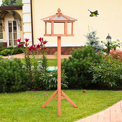 £3.99 • Buy Wooden Bird Table With Stand Feeding Station Garden Wood Coop Parrot Nesting