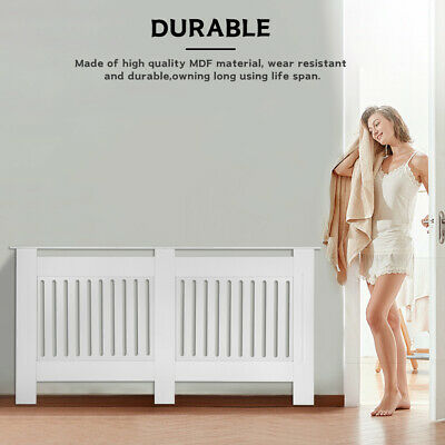 £59.98 • Buy 68'' Radiator Cover MDF Vertical Heating Grill Guard Wall Cabinet Floor Standing