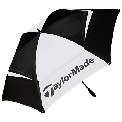 £49.95 • Buy 2021TaylorMade Tour Double Canopy Umbrella 68  Black/White 2021 Model