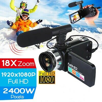 £29.99 • Buy Digital Camera 1080P Video 18X ZOOM 24MP DV Camcorder Recorder With Microphone.