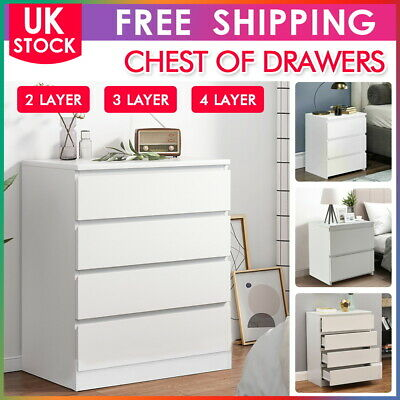 £69.99 • Buy Modern Chest Of Drawers 2/3/4 Bedside Table Cabinet Nightstand Bedroom Wardrobe
