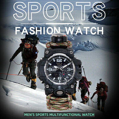 $ CDN20.91 • Buy Men's Outdoor Watch Waterproof Quartz Luminous Electronic Wristwatch Bracelet