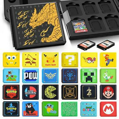 AU14.99 • Buy Portable Game Card Storage Case With 12 Cartridge Slots For Nintendo Switch